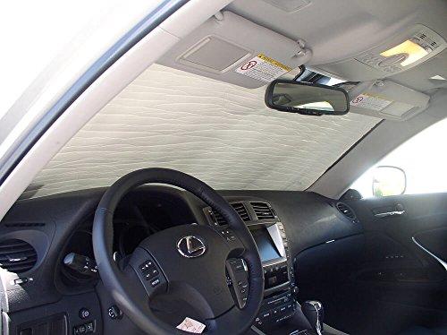 HeatShield, The Original Windshield Sun Shade, Custom-Fit for Lexus IS250 Sedan 2006, 2007, 2008, 2009, 2010, 2011, 2012, 2013, Silver Series