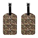 Desert Digital Camo Tactical Luggage Tags Full Back Privacy Cover Name ID Labels Set For Trave Bag Tag For Suitcase 2 Piece