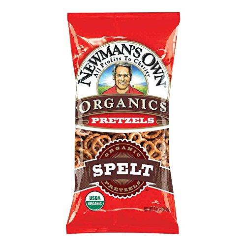 Newman's Own Organics Pretzels, Spelt, 7-Ounce Bags (Pack of 12)