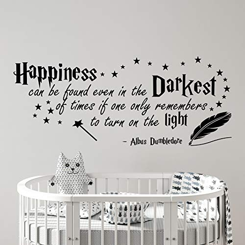 Vinilo adhesivo para pared con cita «Happiness can be Found Even in The Darkest of Times» v033