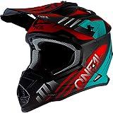 O'Neal 2Series Unisex Offroad-Helm im Spyde-Style, Schwarz/Hi-Viz, Größe M, Offroad, Mittel,...