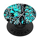TEAL TREE BRANCH CAMOUFLAGE PopSockets PopGrip: Swappable Grip for Phones & Tablets