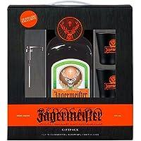 Pack Jägermeister 1,75 litros + 2 vasos + servidor (Party Pack)
