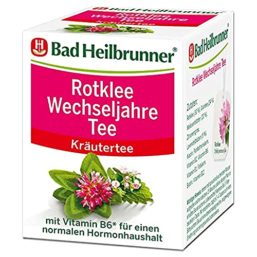 Bad Heilbrunner Rotklee Wechseljahre Tee im Filterbeutel, 3er Pack (3 x 8 Filterbeutel)