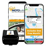 MOTOsafety OBD GPS Car Tracker, Vehicle Tracking Device and  Monitoring System with Real-Time Reports, 4G with Phone App, One Month of Service Included