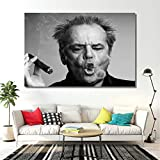 DOLUDO Wandkunst Poster Jack Nicholson Cigar Poster