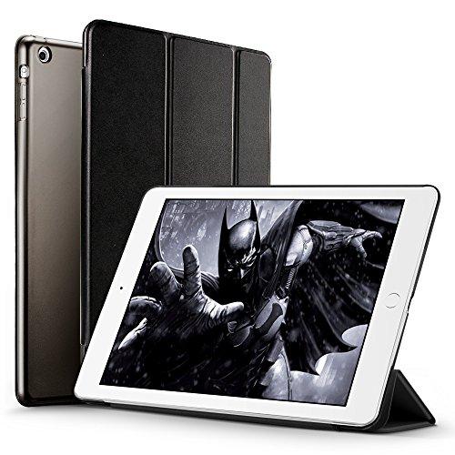 iPad Mini Funda Carcasa, iPad Mini 3/2/1 Funda, ESR Yippee Serie Color iPad Mini Transparente Volver Ultra Delgado despertador automático Arriba / sueño de Smart Funda Tri-fold protectora Funda para iPad Mini 3/2/1(mysteriou Negro)
