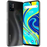 Smartphone Offerta Del Giorno, UMIDIGI A7 Pro(2020) Quad Camera AI, 4GB RAM 128GB ROM, Batteria 4150mAh, 4G, Triple Slot, Android 10 Octa Core 6.3' FHD+ Waterdrop Glass Back Cellulare - Cosmic Black