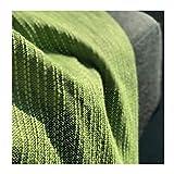 Craft Story Decke YARA I Uni apfelgrün aus 100% Baumwolle I Tagesdecke I Sofa-Decke I Couch-Überwurf I Bedspread I Plaid I Picknickdecke I Läufer I Nutzdecke I 170 x 220cm - 7