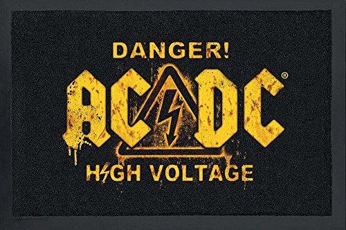 Felpudo AC/DC Danger! High Voltage!