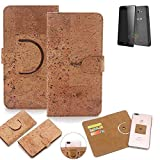 K-S-Trade 360° Cover cork Case for Alcatel One Touch Pop