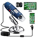 Bysameyee HD 2MP USB Microscope, 40X to 1000X Magnification Digital Microscope Camera Inspection Endoscope with Carrying Case, Compatible with Windows 7 8 10, Mac, Linux, OTG Android Phones