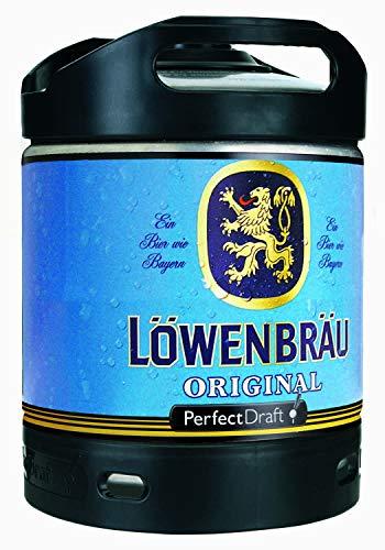 4 x Löwenbräu Original Perfect Draft 6 Liter Fass 5,2 % vol inc. 20.00€ MEHRWEG Pfand