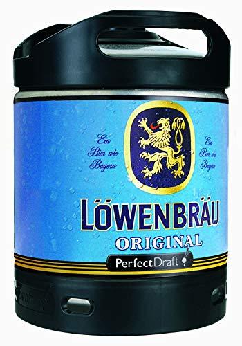 4 x Löwenbräu Original Perfect Draft 6 Liter Fass 5,2 % vol inc. 20.00€ MEHRWEG Pfand