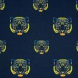 Baumwolljersey Tiger neon - Preis gilt für 0,5 Meter