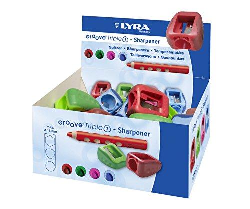 Lyra Spitzer / Anspitzer 'Groove Triple 1' (Farbe zufällig, 1 Stück)