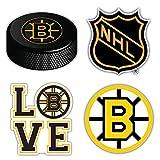 Boston City Bruin Sport Hockey Logo Die-Cut Sticker Aufkleber Decal Label - Set of 4 Pieces - Longer...