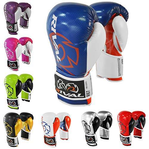 Rival Boxing RB7 Fitness+ Hook and Loop Bag Gloves - 6 oz. - Blue/Red/Wh