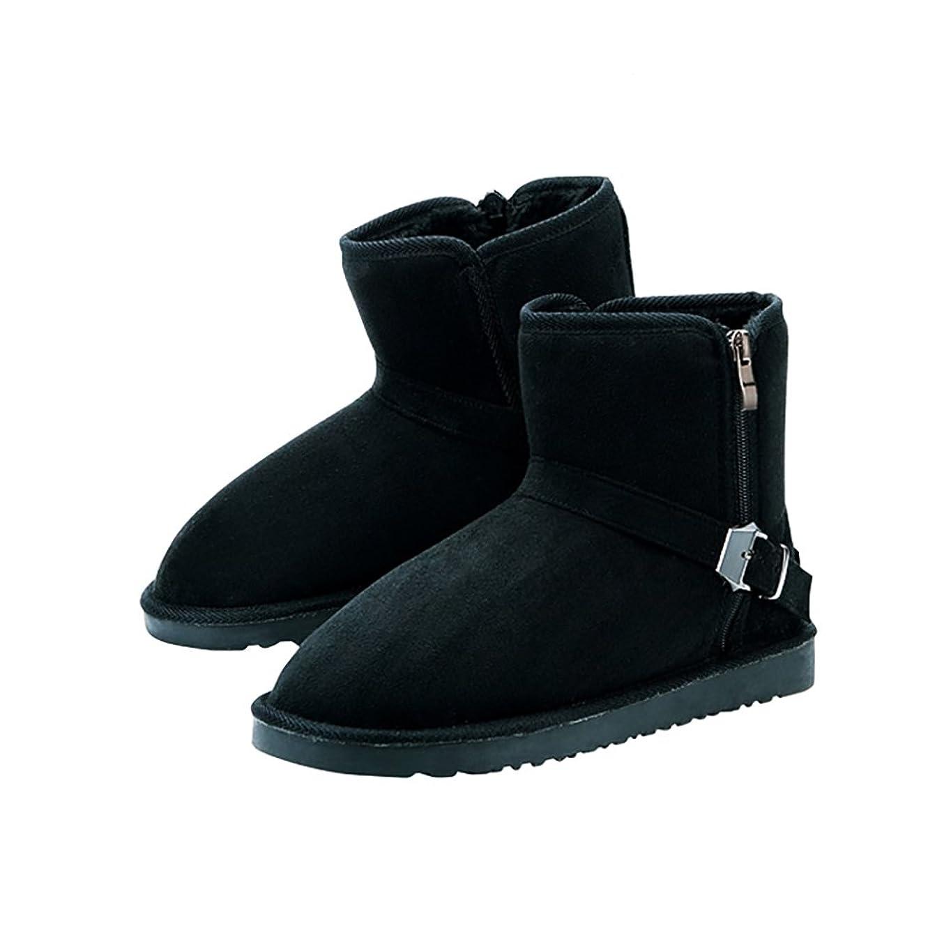 抗生物質頑張るだらしない[ノーブランド品] エンジニアブーツ ミドル ムートンブーツ ジップ サイドファスナー付き 調ブーツ