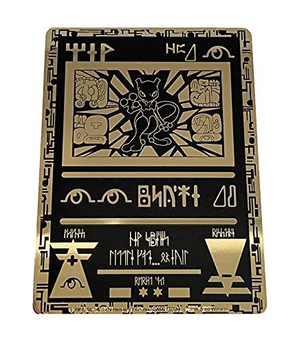 Mewtwo Carte d'or Pokémon Ancient #2 – Carte rare dorée brillante à collectionner – Édition limitée
