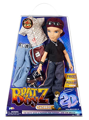 Bratz 20 Yearz Special Anniversary Edition Original Boy Fashion Doll Cameron with Accessories and Holographic Poster | Collectible Doll | for Collector Adults and Kids of All Ages