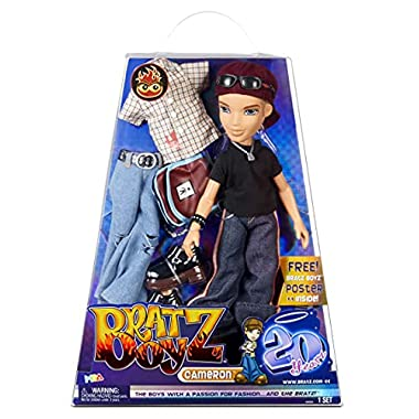 Bratz 20 Yearz Special Anniversary Edition Original Boy Fashion Doll Cameron with Accessories and Holographic Poster…