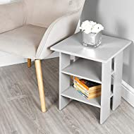 Material: MDF Self-Assembly (Fixings Included) Dimensions (cm Approx): H 45 W 39.5 D 39.5 Middle & Bottom Shelves: H 1.5 W 29.5 D 29.5 Height Between Bottom & Middle & Top: 15, 12
