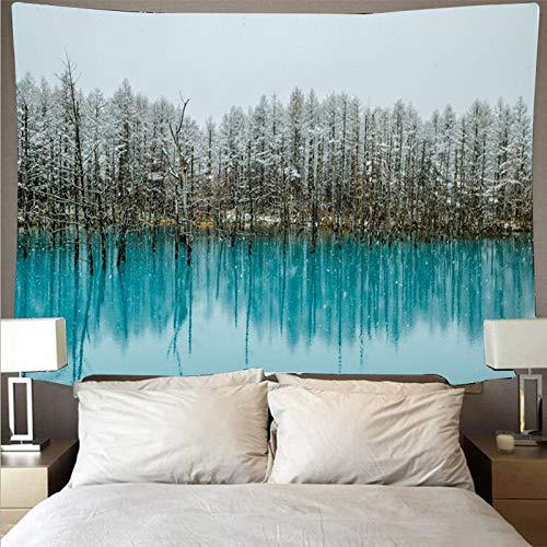 Misty Forest Paño de pared Colgante de pared Tapiz indio Arte Yoga Bufanda Pad Toalla de playa Tapiz Paño de fondo A4 180x200cm