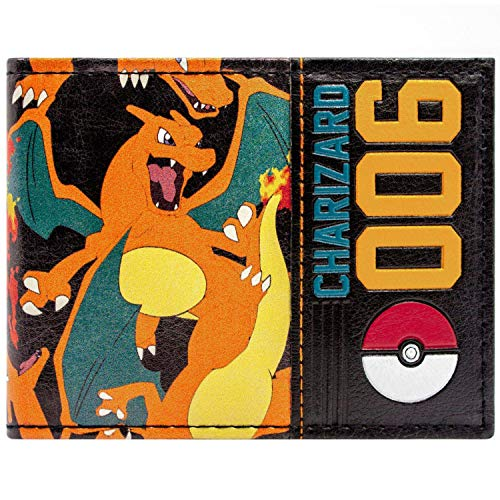 Pokemon Charizard 006 Pokeball Orange Portemonnaie Geldbörse