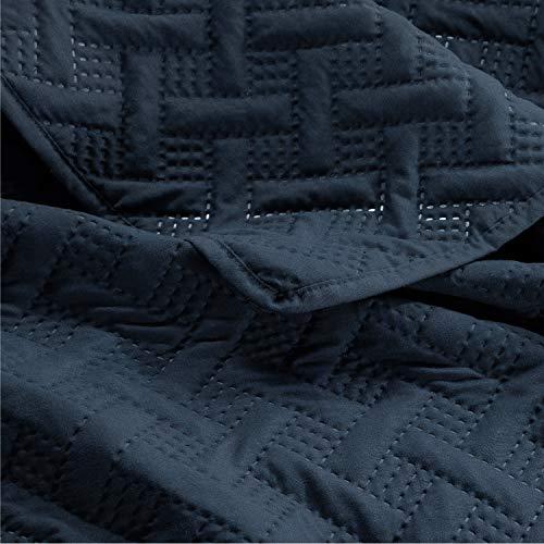 Bedsure Tagesdecke Sommerbett 150 Marineblau -...