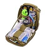 Lightning X Gunshot Trauma/Hemorrhage Control Kit in MOLLE IFAK Pouch - TAN