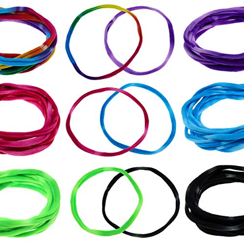 FROG SAC 36 PCS Soft Stretchy Hair Ties for Masks, Elastic Hair Bands for Girls, Thin Stretch Nylon Headbands for Women, Cute Ponytail Holder Seamless Hair Tie for Mask, Ouchless Elastics Holders