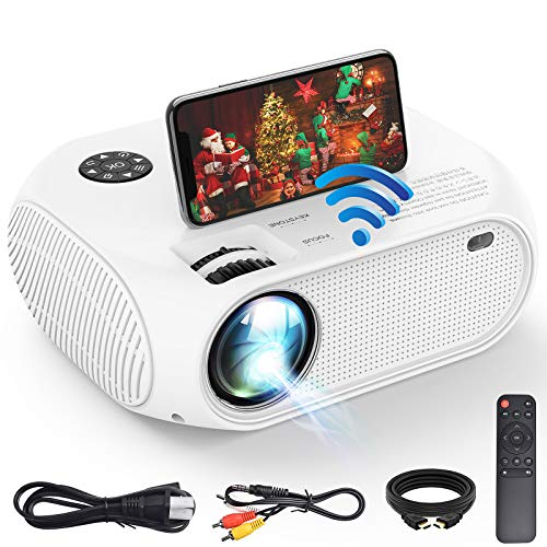 Mini Beamer, iBosi Cheng Projektor Tragbarer LCD Videoprojektor Full HD 1080P LED Heimkino Projektor mit 2800 Lux, Unterstützung 1080P mit HDMI USB VGA Anschlüssen für Laptop Smartphones