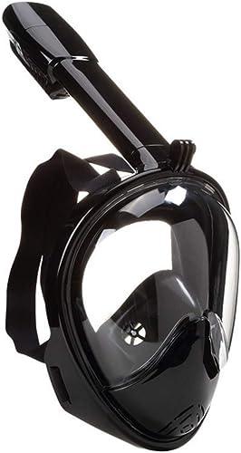 YADANER Masque de Plongée, Snorkel Masque, Dry Snorkel Antibuée RéSistant Aux Fuites éQuipeHommest De PlongéE, grand Champ De Vision,D,L XL