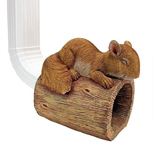 Design Toscano Jolly, das Eichhörnchen, Regenrohrauslass