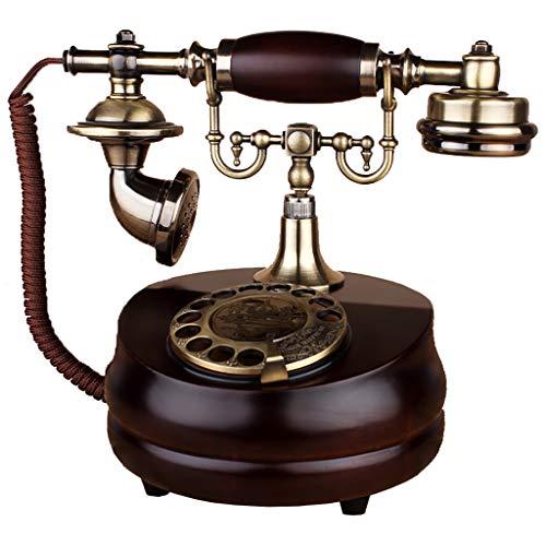 VERDELZ Accesorio Retro para el hogar Decoración con Cable Antiguo teléfono Retro Tono de Timbre Tradicional