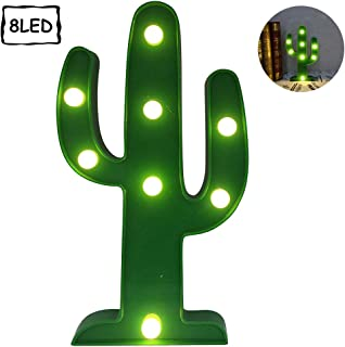 Penxina Cactus Light, LED Cactus Lamp,Cute Night Table Lamp Battery Operated Marquee Light for Kids' Room Bedroom Gift Party Home Wall Decorations