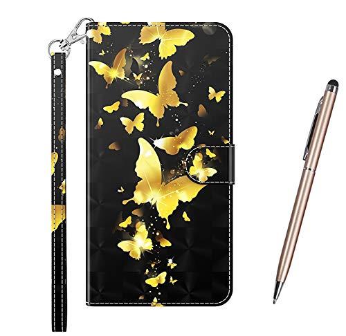TOUCASA Funda para Samsung Galaxy S21 Ultra 5G / 4G, PU Cuero Slim Case de Estilo Billetera Carcasa TPU Silicona Case Interna Suave [Superficie 3D] [Cierre Magnético] Fundas Case Cover (Mariposa)