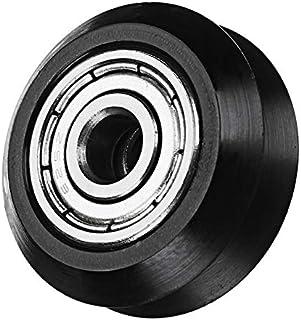 CCChaRLes 5Mm Pom Black Idler V Roue Roues Gravure Cnc Accessoires De Machine Millling