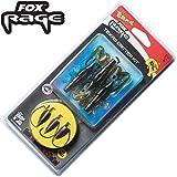Fox Rage Rage Texas Critter Kit 1m 0,27mm 5,15kg 12g Gr. 3/0- 3 Rigs zum Spinnfischen auf Zander & Barsch, Texasrig Zanderset