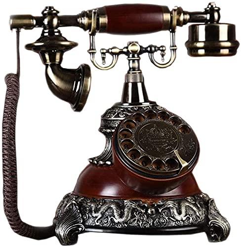 Teléfonos decorativos antiguos Teléfonos caseros Teléfono fijo retro, teléfono de la vendimia Teléfono de escritorio de la vendimia Pantalla del teléfono de estilo europeo para el hogar / hotel / ofic