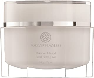 Forever Flawless Facial Peeling Gel with 100% Natural Diamond Infused Powder, New & Improved Formula for Best Exfoliation, Microdermabrasion, Detox for a Flawless, Glowing Skin FF12 (1.76 oz)
