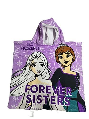 Poncho Frozen Due Disney niña playa piscina niña niña Elsa & Anna Summer Kids de poliéster 50 x 100 cm