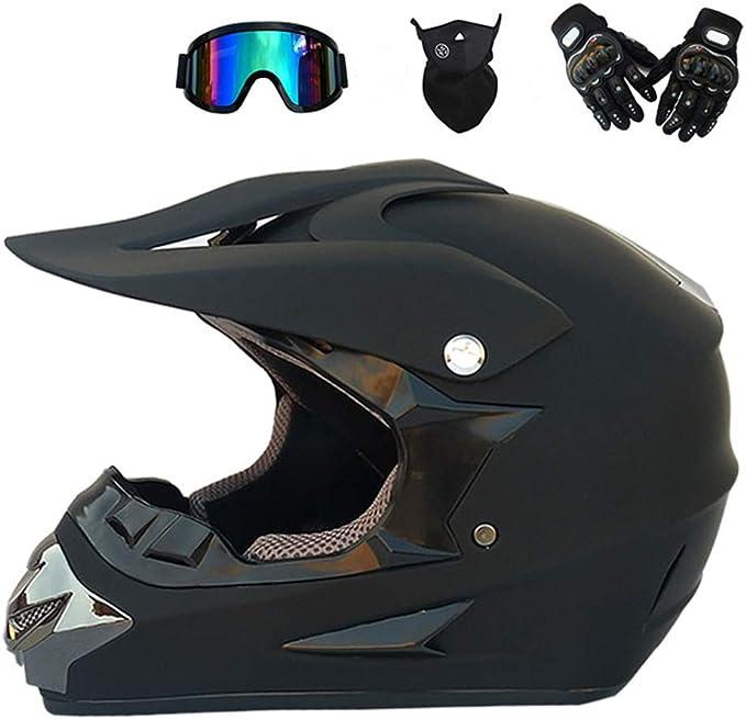 Mrdeer Adult Off Road Helm Motocross Helm Unisex Motorradhelm Cross Helme Schutzhelm Atv Helm Für Männer Damen Sicherheit Schutz Mit Handschuhe Maske Brille Sport Freizeit
