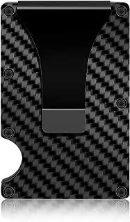 Carbon Fiber Silm Wallet Metal Money Clip Wallet RFID for Men-Emigraphite MC01(2019New Design) Blocking Minimalist Wallet3.3