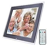N / A Marco Digital de Fotos Marco de Fotos electrónico, 15 Pulgadas de Alta definición LED de visualización de vídeo de Control Remoto de la Ayuda SD/MMC/MS/Tarjeta USB, for el hogar (Negro)