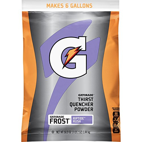 Gatorade Thirst Quencher Powder, Riptide Rush, 51 Ounce Pouch, Makes 6 Gallons/Pouch (Pack of 14)