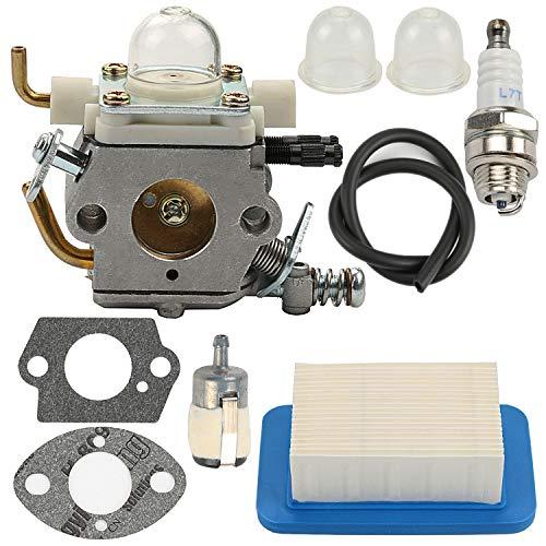 Yermax PB-403H Carburetor for Echo Backpack Leaf Blower PB-403T PB-413H PB-413T PB-610 PB-620 PB-620H ZAMA C1M-K77 with Air Filter Fuel Line Kit