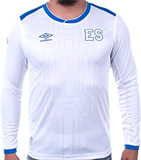 Umbro El Salvador Away 长袖足球运动衫 17/18 白色/蓝色(L 码)