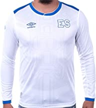 Umbro El Salvador Away Long Sleeve Soccer Jersey 17/18 White/Blue (Large)